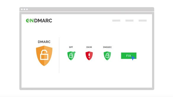 OnDMARC - Actively block phishing & Increase email deliverability